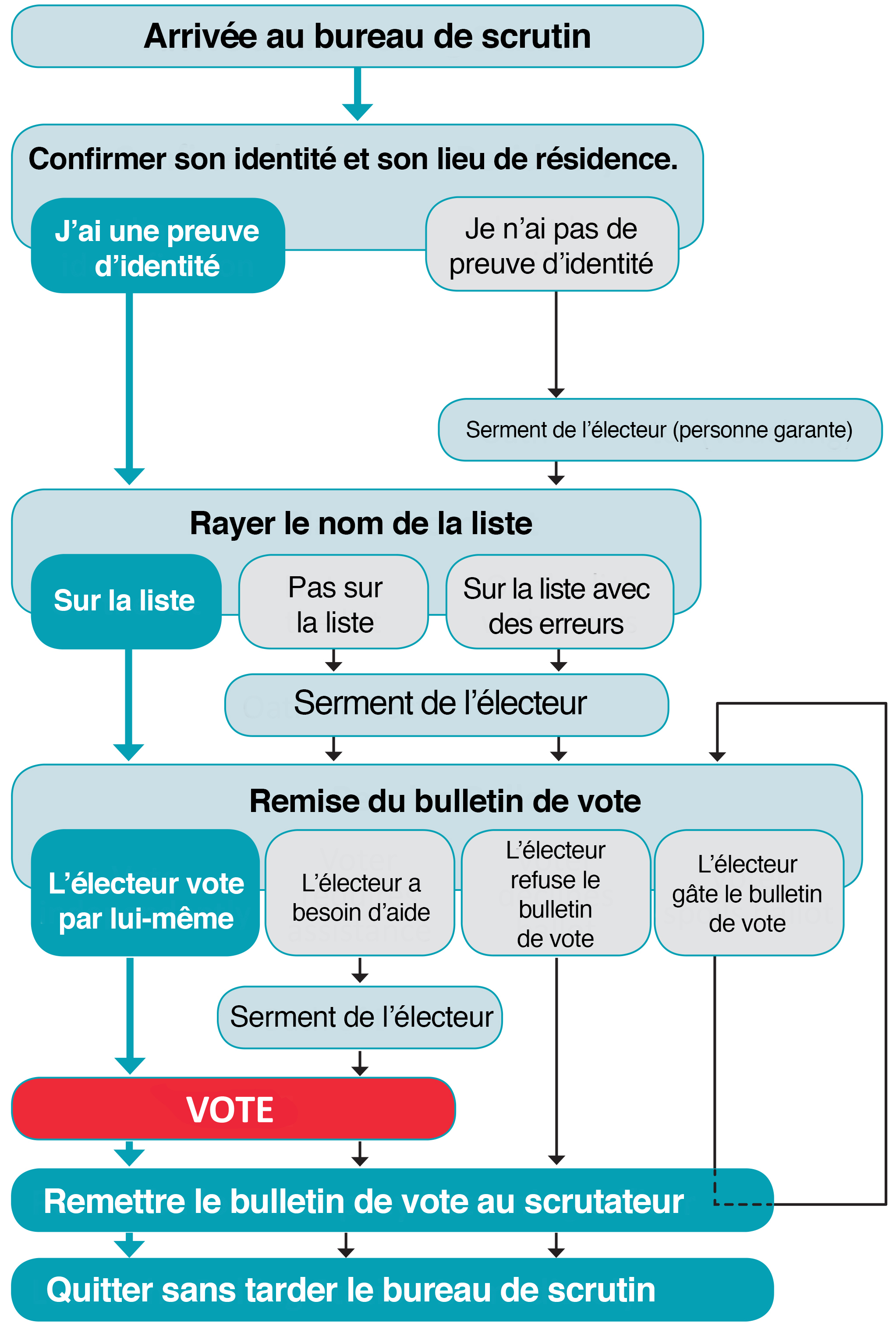Polling Process French